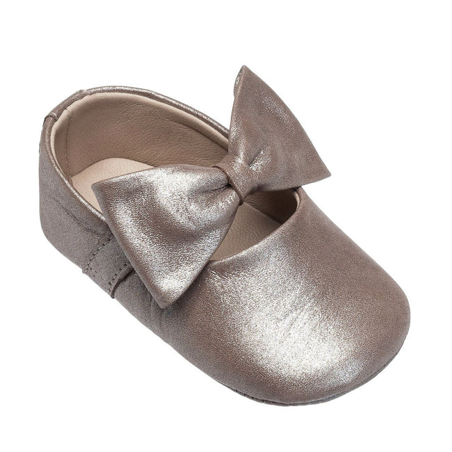Baby Ballerina Shoe with Bow - Blush