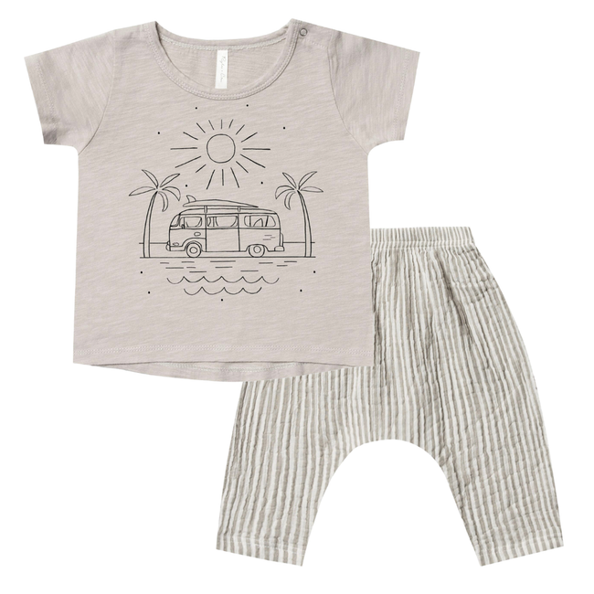 Coast Basic Tee & Harem Pant Set