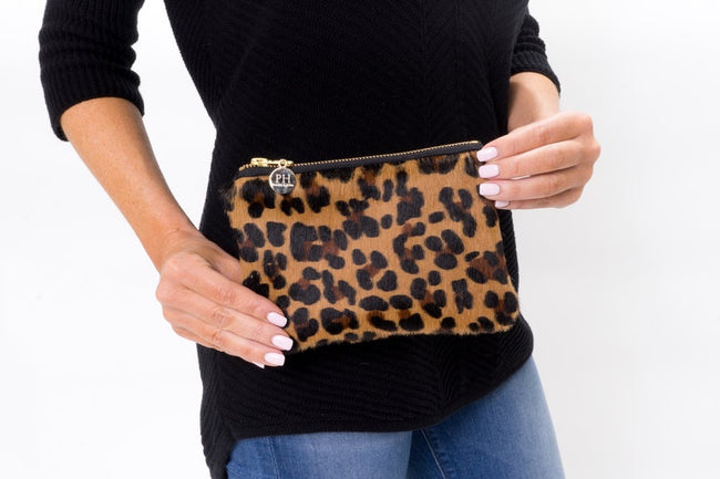 Cowhide Mini Clutch - Leopard