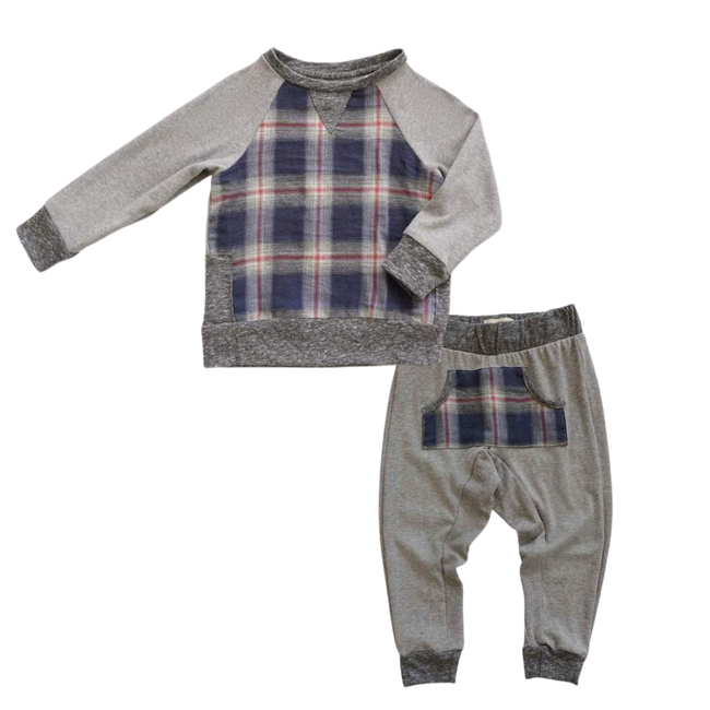 Iggy Sweatshirt & River Jogger Set - Harvest