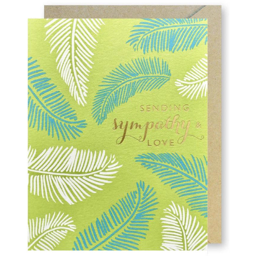 Palm Fronds Sympathy Card