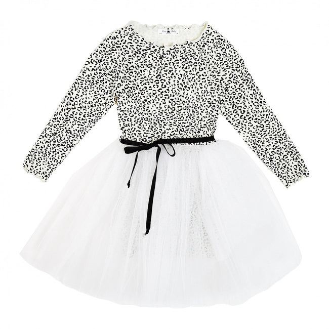 Leopard Sha Tutu Dress- White