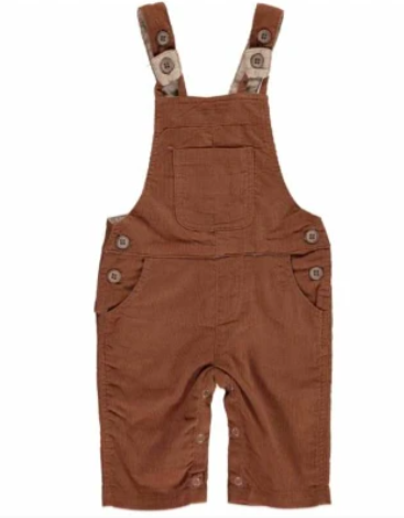 Corduroy Overalls - Brown
