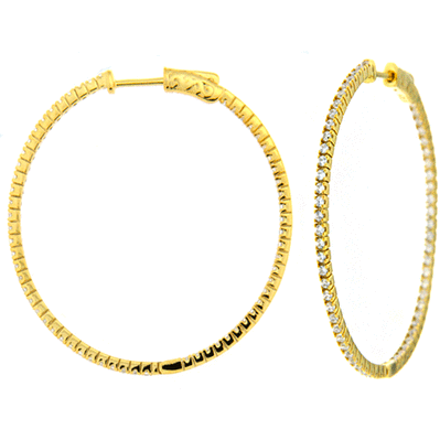 Large DiamLock Hoop Earrings - Gold
