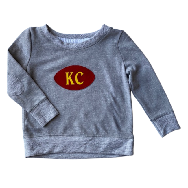 KC Football Applique Terry Sweatshirt