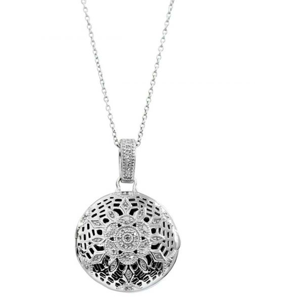 Violet Locket Necklace - Sterling Silver
