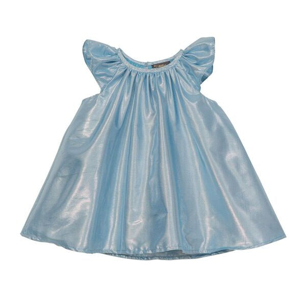 Harper Frill Sleeve Party Dress - Aqua
