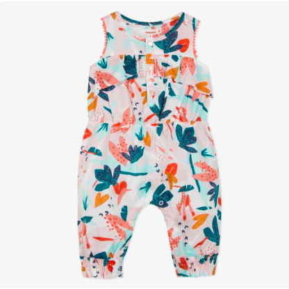 Cotton Voile Romper - Tropical Adventure