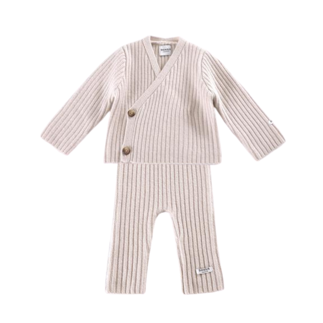 Elo Cardigan & Olle Trouser Set - Soft Blush