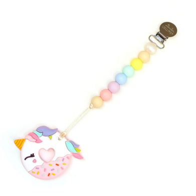 Pink Unicorn Donut Teether
