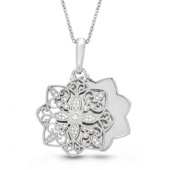 Paloma Locket Necklace - Sterling Silver