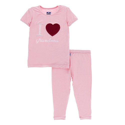 I Love Grandma Pajama Set - Lotus