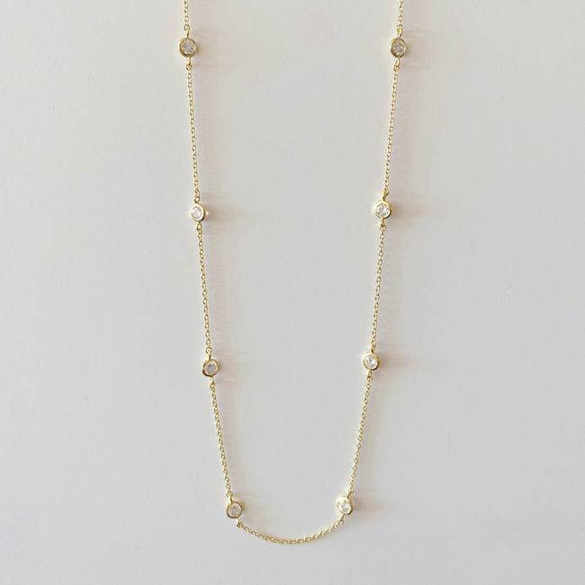 "16"" Diamonds by the Yard Necklace - Gold"