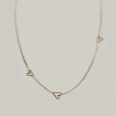 Teenie Necklace - Rose Gold Heart