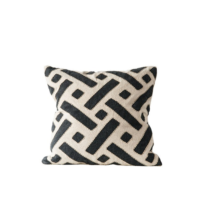 Square Kuba Embroidered Pillow - 24""
