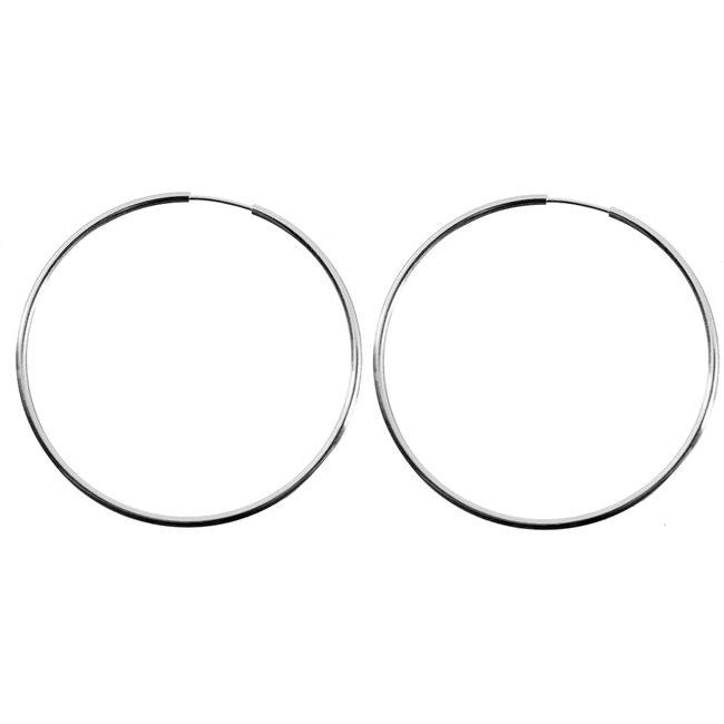 Silver Norma Hoops - Extra Large