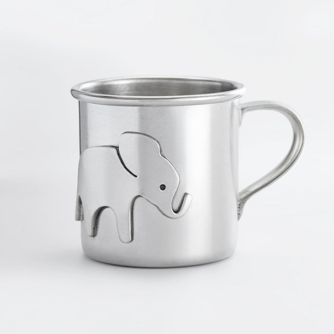 Elephant Baby Cup - Pewter
