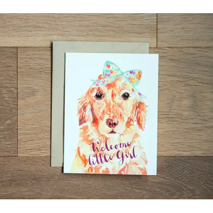 Baby Card - Bow Pup Baby