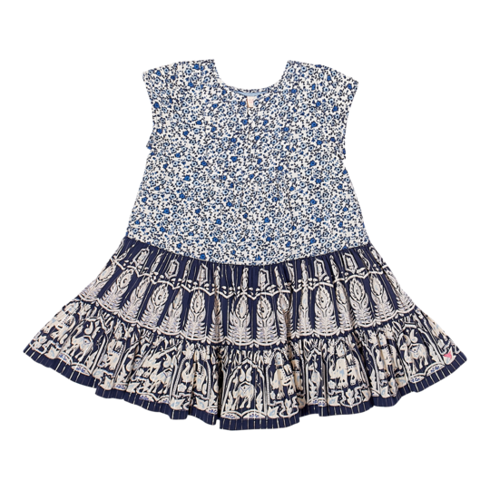 Penelope Dress - Blues Indian Mix