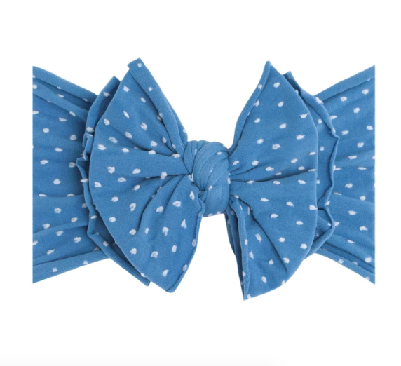 Shab-Bow-Lous Headband - Denim Dot