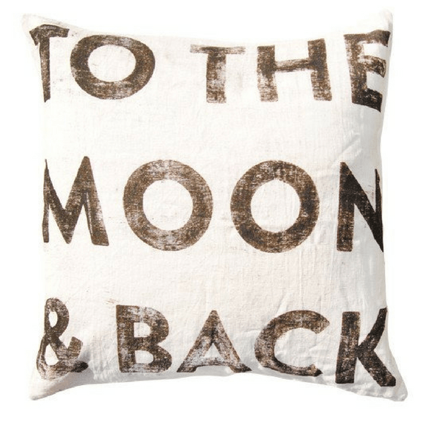 "To Moon & Back Pillow - 24"" x 24"""