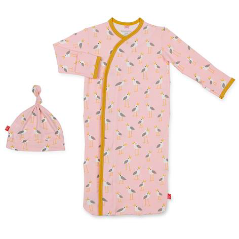 Pink Plovers Modal Magnetic Gown Set