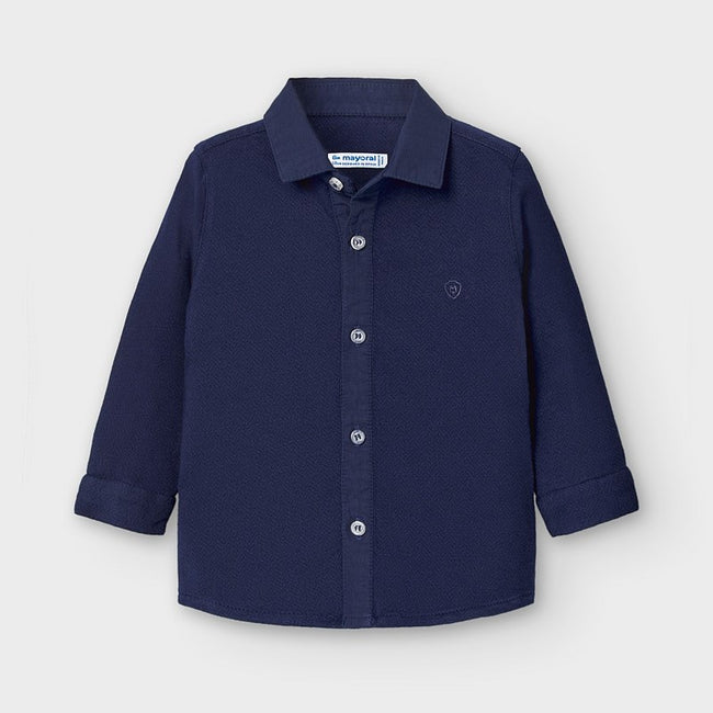 Handsome Collared Shirt - Navy