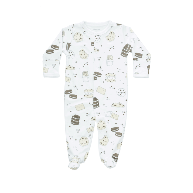 Pima Cotton Snap Footie - Cookie