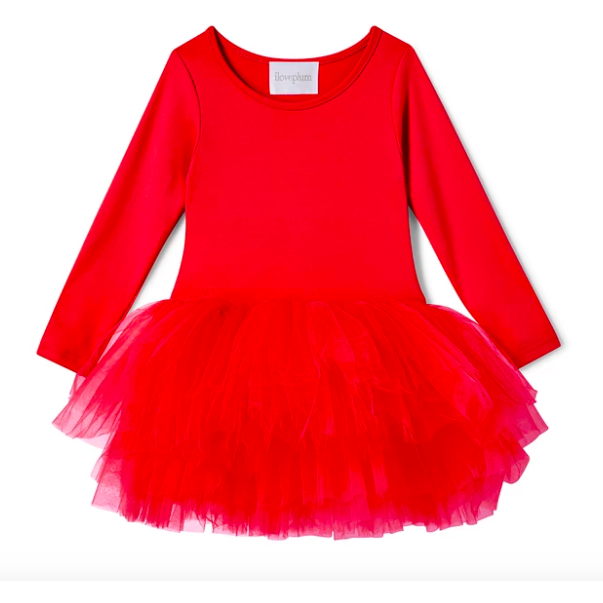 B.F.F. Tutu Dress - Rosie Red