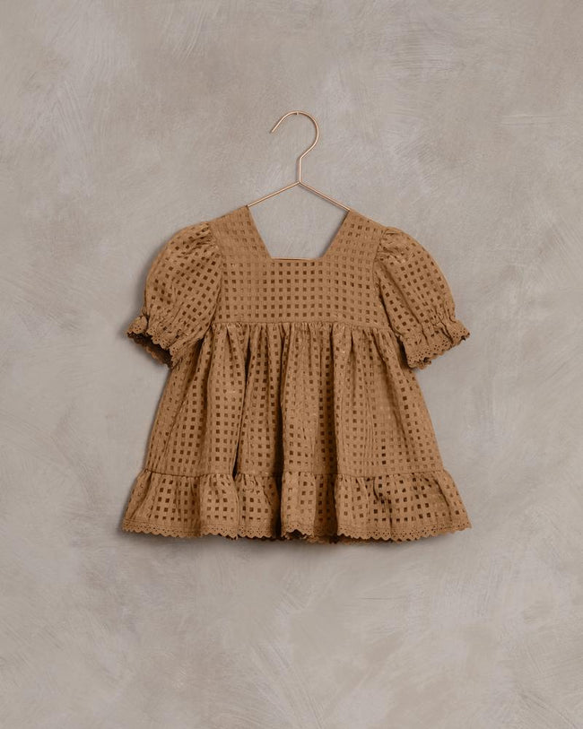 Check Quinn Dress - Golden Check