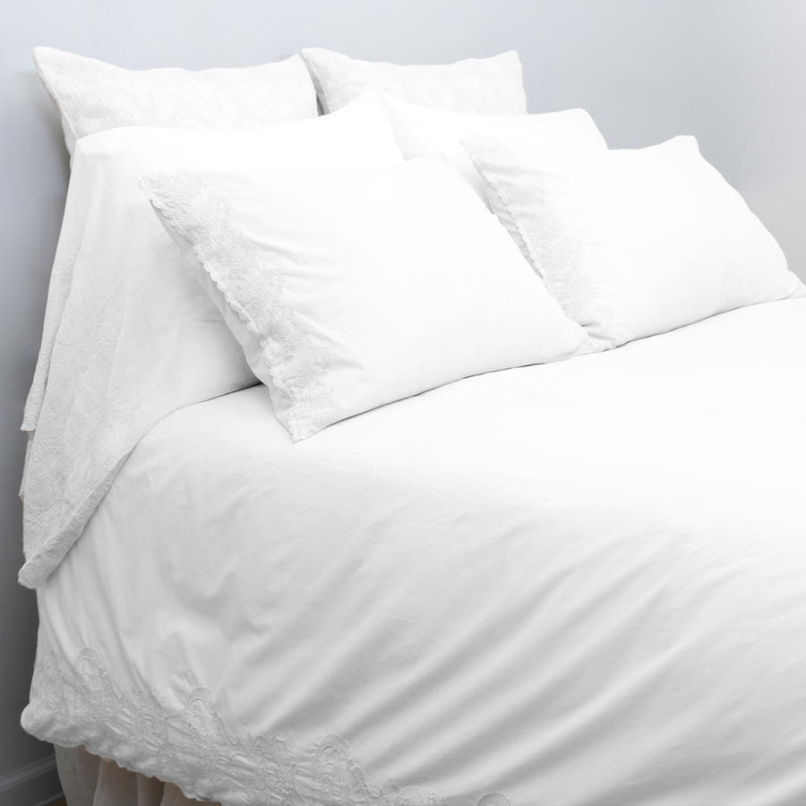 White Grace Duvet Set