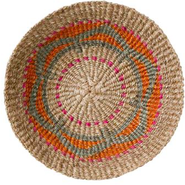"16"" Abaca Wall Basket - Pink"