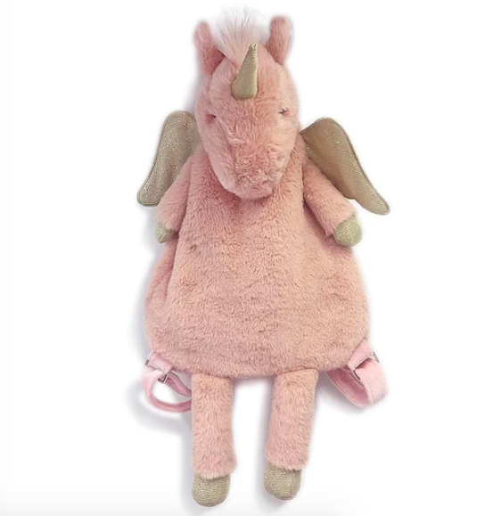 Uliana Pink Plush Unicorn Backpack