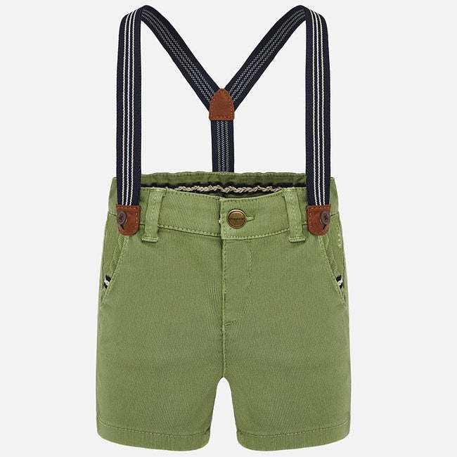 Suspender Bermuda Shorts - Jungle Green