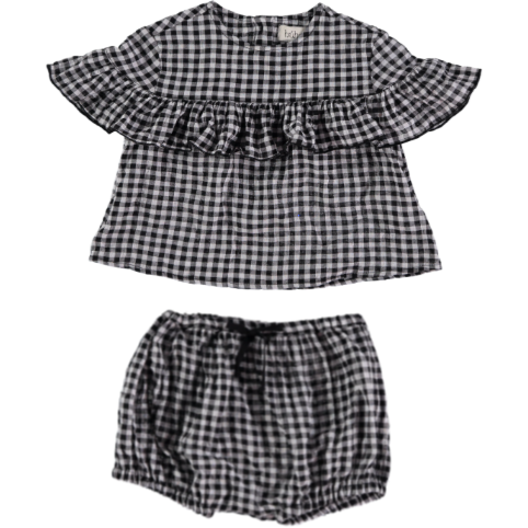 Blouse & Bloomer Set - Gingham