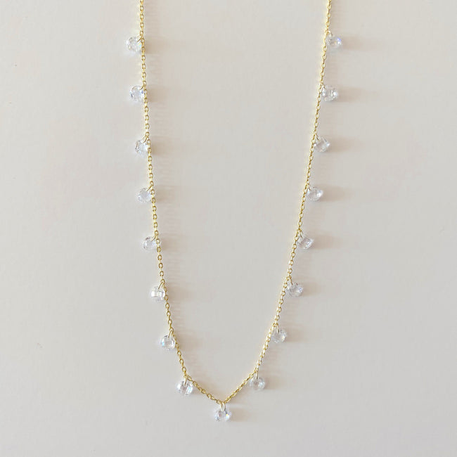 Choker Necklace with Clear CZ's