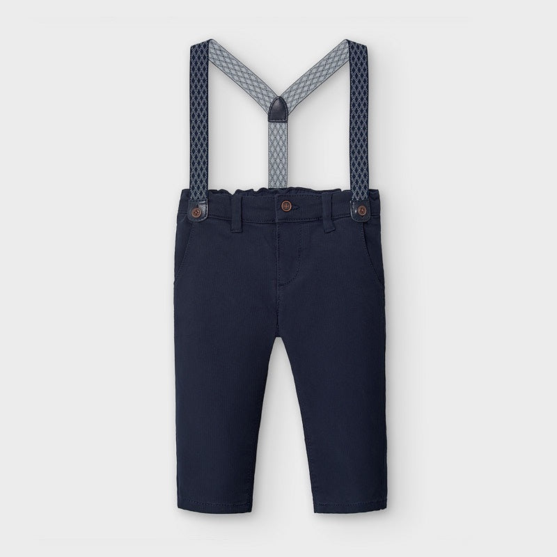 Chino Suspender Trousers - Navy Blue