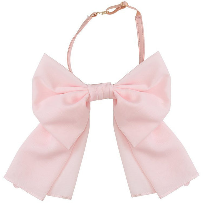 Amira Bow Necklace & Headband - Baby Pink