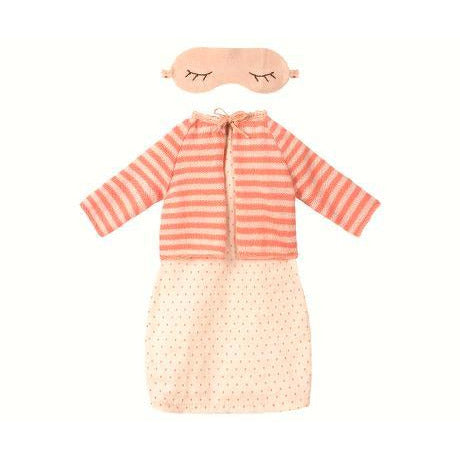 Best Friend Night Dress with Cardigan - Coral