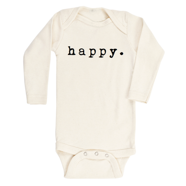 Long Sleeve Bodysuit - Happy