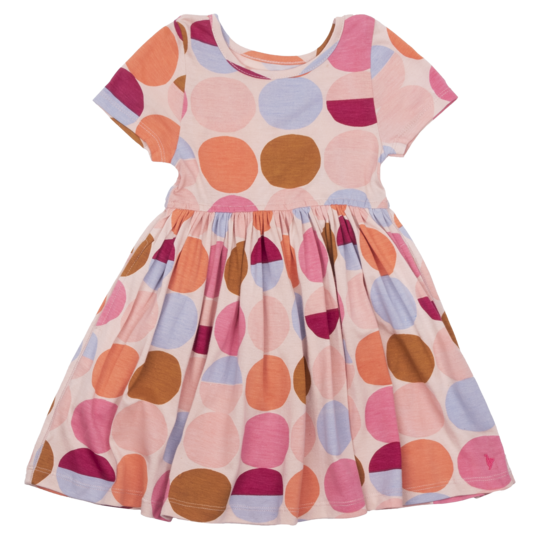 Steph Dress - Cloud Pink Multi Dot