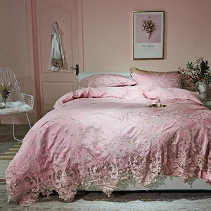 Lace Egyptian cotton Queen King size Bedding Set - decoratebyyou