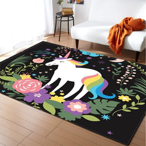 Child Unicorn 3D Carpets - decoratebyyou