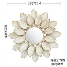 Load image into Gallery viewer, Three-dimensional Wrought Iron Decorative Mirror - decoratebyyou
