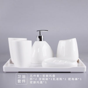 Bathroom Ceramics Accessories Set - decoratebyyou
