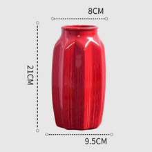 Load image into Gallery viewer, 1Pcs Red drum ceramic vase set - decoratebyyou