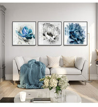 Load image into Gallery viewer, golden slivery and Ink blue Abstract - decoratebyyou