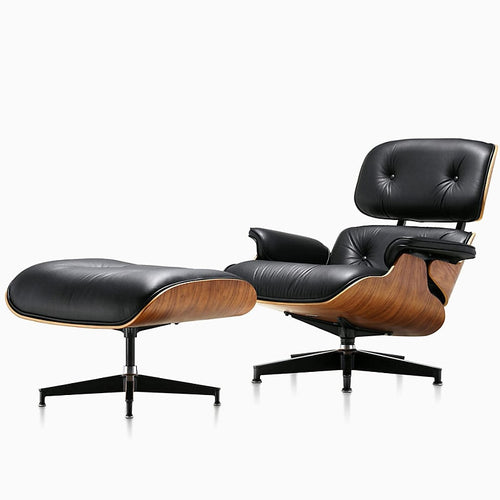 Leather Leisure Chair with Footstool - decoratebyyou