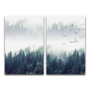 Forest Landscape Abstract Wall Art - decoratebyyou