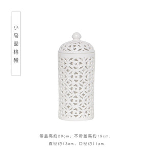 White Hollow Ceramic General Tank Decoration - decoratebyyou